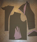 Pattern pieces cut out