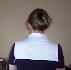 Back of the linen partlet.