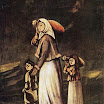 N. Pirosmani. Peasant Woman with Children Goes for Water.