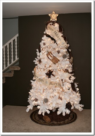 Diy newlyweds diy home decorating ideas projects white Brown and gold christmas tree