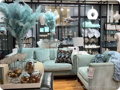 this stunning teal living room set up it was just gorgeous the room