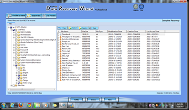 A recovered virtual file structure view of Formatted HDD