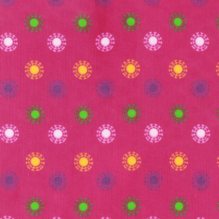 Circles on Pink Corduroy