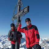 Geri und ich am Gipfel