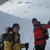 Wegen des Eiswindes haben wir auf den Gipfelsieg verzichtet...