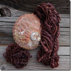 hand spun wool - dyed by Jude