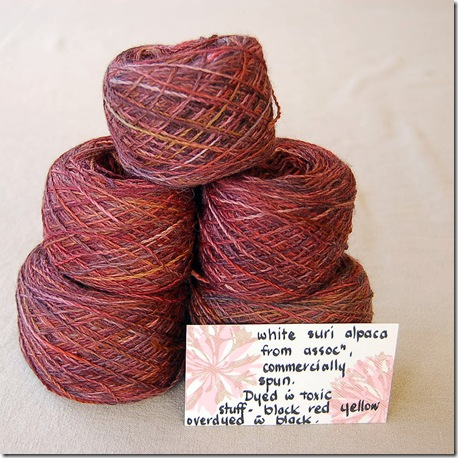 dyed alpaca yarn