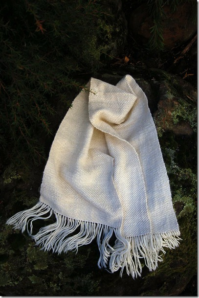 Alpaca project - Jill's silk and alpaca scarf
