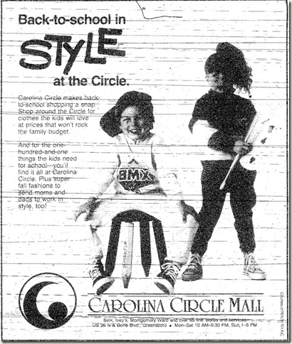 Back to School Ad August 1987