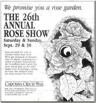 Rose Show September 11, 1990