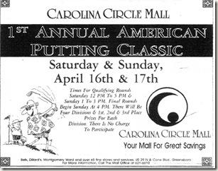 American Putting Classic April 16, 1994