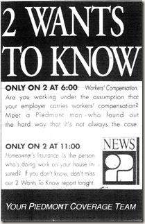 WFMY Ad November 1994