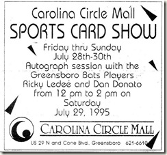 Sports Card Show July 26, 1995
