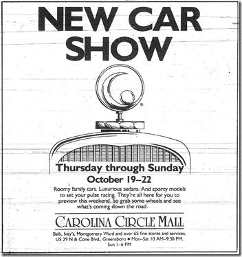New Car Show October 1989