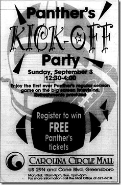 Panthers Kick-Off Party August 31, 1995