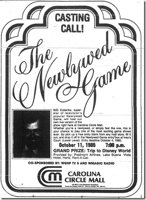The Newlywed Game October 1985