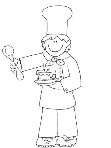 Dibujos infantiles de oficios para colorear for Utensilios para cocineros