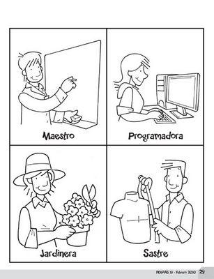 Dibujos dia del trabajo para colorear for Actividades que se realizan en una oficina wikipedia