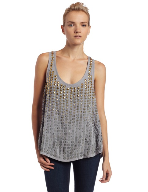 Grey Silk Tank with Silver anf Gold Grommets.jpg