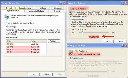 System restore after edit