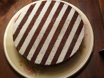 Striped Almond Torte