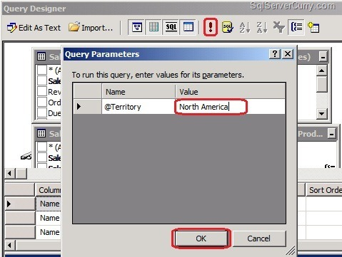 Design parameterized report using ssrs 2008 for Query design window