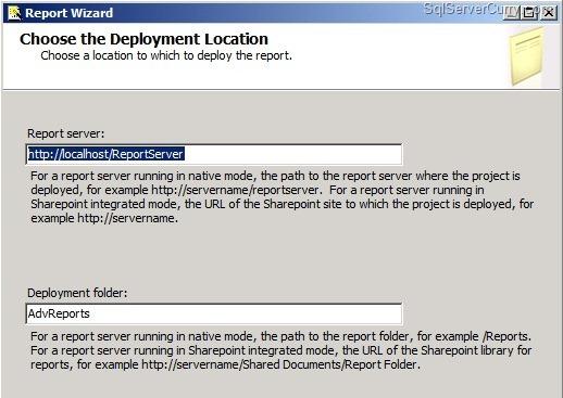 Report Deploy