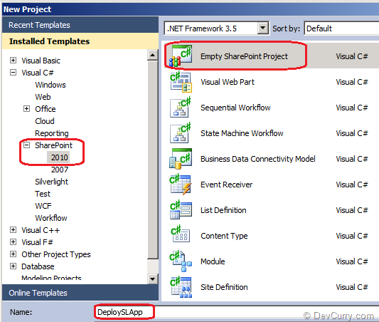 Sharepoint Silverlight Project