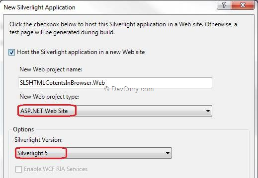 Silverlight WebBrowser Project