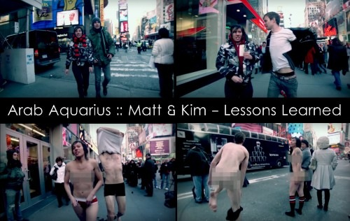The music video for Matt & Kim's 'Lessons Learned' teaches a very important
