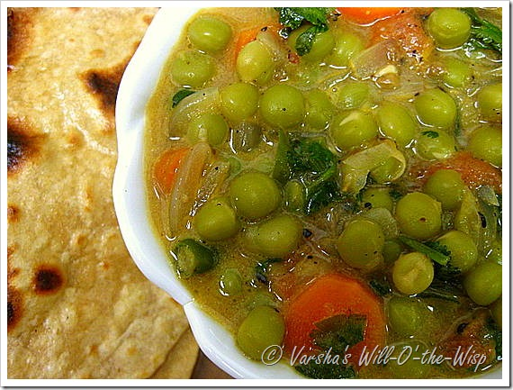 Will-O'-the-Wisp: Green Peas Curry /Stew – Peas and Veggies in a ...