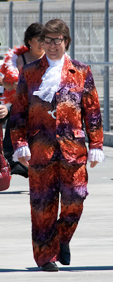 excellent austin powers mike myers costume wellington sevens rugby tournament 