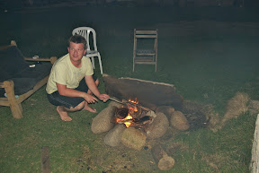 aussie dave cooking over open fire cabo polonio uruguay