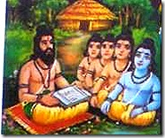 Rama and brothers at Gurukula