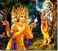 Lors Krishn and Lord Brahma