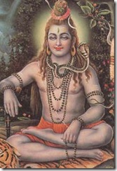 Lord Shiva meditating