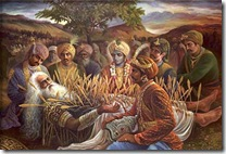 Bhishma lying on battlefield