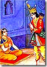 Lakshmana speaking to Sumitra