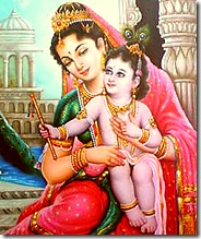 Mother Yashoda and baby Krishna