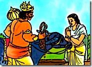 Savitri praying to Yamaraja
