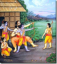 Rama and His brothers learning the military arts