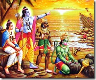 Ramayana - Building a bridge to Lanka