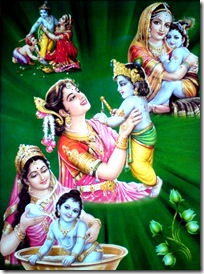 Mother Yashoda loving Krishna