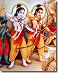 Lakshmana and Rama fighting Ravana