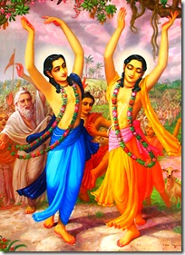 Gaura Nitai chanting and dancing