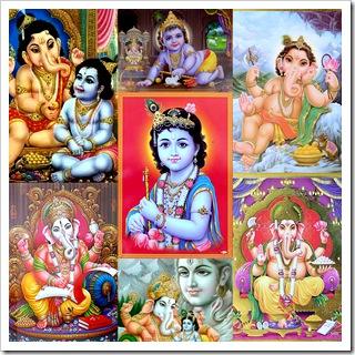 Lord Krishna with Ganesha