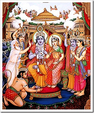 Rama's triumphant return and coronation