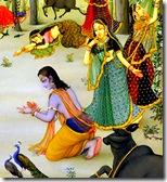 Gopis with Uddhava