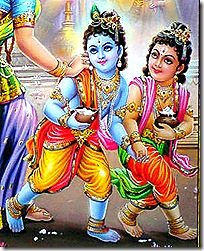Balarama and Krishna as children