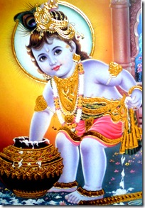 Krishna eating